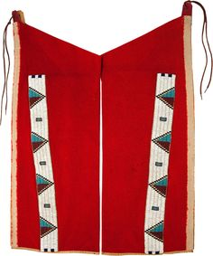 A PAIR OF SIOUX BEADED CLOTH LEGGINGS. c. 1890... (Total: 2 Items) | Lot #50081 | Heritage Auctions