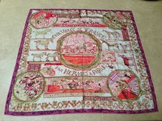 """HERMES 'Chevaux de France"""" Silk Scarf by Philippe Dumas #HERMS #Scarf"""