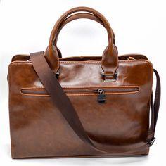 f189b6cf2e2d3 ... PU Läder Män Väskor Väska Solid Office Män Business Väskor Ny. Briefcase  For MenLeather BriefcaseVintage LeatherVintage MenLaptop Shoulder BagLaptop  ...