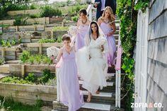 long chiffon lilac bridesmaid dresses