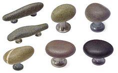 DIY potential. Skipping stones cabinet door pulls.