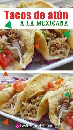 TACOS DE ATÚN MEXICANOS Receta #saludable Facil y rapida para toda la familia #dietavegetarianarecetas