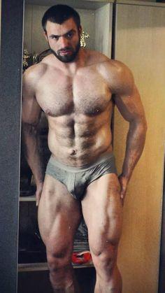 2/11/15 6:25a Man Dark FurryTall Lean Mean Muscled Ape Grey Shorts Massive Legs martiallen.tumblr.com