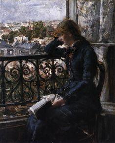 HEYERDAHL, Hans Olaf At the Window 1881 Oil on panel, 46 x 38 cm Nasjonalgalleriet, Oslo