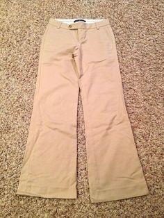 Gap Wide Leg Khaki Womens Pants Size 0R