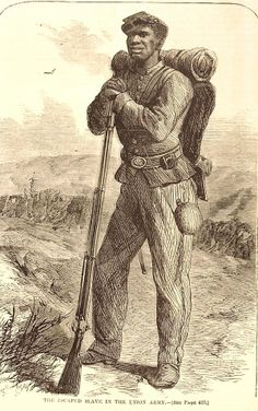 """The Escaped Slave in the Union Army"" Illustration, 1864. Missouri History Museum"