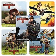 How to Train Your Dragon 2 Large Stickers $0.50