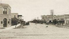 Sam Houston Blvd in San Benito Texas, 1920s.