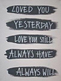 Kiz Canvas - Loved you yesterday | Nieuw Tekstborden Canvas | Label 123