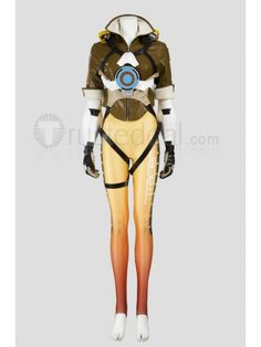 Overwatch Tracer Jumpsuit Cosplay Costume  http://www.trustedeal.com/Overwatch-Tracer-Cosplay-Costume.html  #halloweencosplay