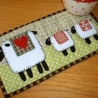 thinking this should be your next office mug rug @lexilooo!! ~ Quilting: Spring Lambs Mug Rug