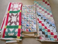 Vintage Antique Handmade Quilts Lot of 3 Cutter Quilts | eBay