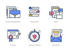 Icon Suite Vol 2 by Budi Tanrim #Design Popular #Dribbble #shots