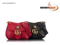 La bolsa de hombro Marmont de Gucci viene con un detalle de metal felino al frente, y está fabricada en piel ligera de gran suavidad y elasticidad. ¡Es la bolsa de mano que todas las mujeres quieren! Compra Gucci En México y obtén un reembolso de impuestos! #moneyback