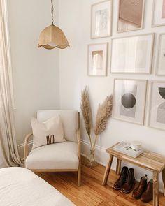 Unser Home Office Gästezimmer Dekoration - New ideas Home Bedroom, Bedroom Decor, Wall Decor, Bedroom Corner, Ikea Bedroom, Decor Room, Bedroom Furniture, 1980s Bedroom, Master Bedroom
