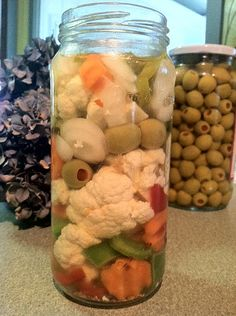Italian Giardiniera Mix, Homemade