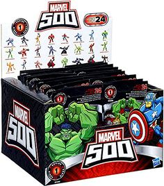 Marvel 500 Collectible Mini Figure Wave 1 Blind Bags Case of 24 *** Click image to review more details.
