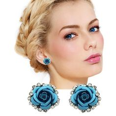 Shop now Coupon: SWEETSTYLE Luxury Mini Rose Flower Ear Stud Earrings  #officeday #slay #trend #boutique #plussize #getthelook #fashion #whatiworetoday