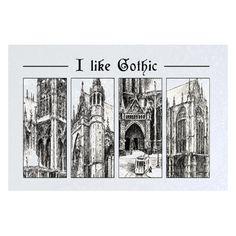 Blacha stalowa z grafiką katedry we Francji, Metz. I like gothic.
