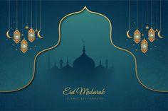 Eid mubarak stylish islamic card with crescent moon Best Eid Mubarak Wishes, Eid Mubarak Greetings, Ramadan Background, Festival Background, Gold Lanterns, Hanging Lanterns, Mubarak Ramadan, Ramadan Png, Eid Mubarak Vector