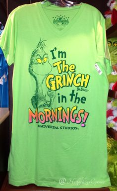 Dr Seuss I'm The Grinch in the Mornings! Nightgown Sleep Shirt Authentic NEW #hedgehogscorner- select size