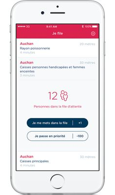 Killer app : application de queue virtuelle en supermarché