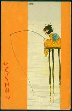 Raphael Kirchner Geisha Artist Postcard