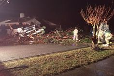 Tornado swept across Pensacola, Florida on February 23, 2016. First pictures and video of damage.