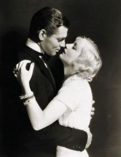 Clark Gable and Carole Lombard....what a true Hollywood love story....married until her death in plane crash!