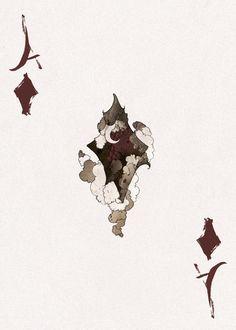 D'espairsRay Deck - Ace of Diamonds by robbiedraws