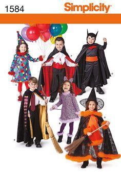 simplicity pattern halloween costume vampire, witch, little bo ...