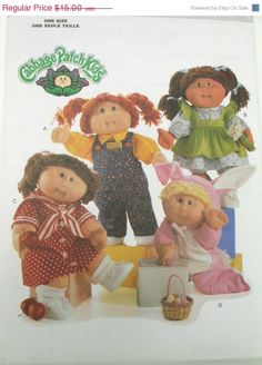 Holiday Sale Butterick 5902 Cabbage Patch Kids Doll Clothes Sewing Craft Pattern - One Size UNCUT