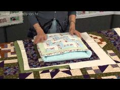 How to make a secret pillow or quillow with Valerie Nesbitt - YouTube