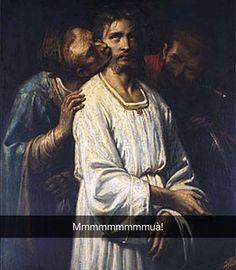 Il bacio di Giuda - Thomas Couture (1830)  #seiquadripotesseroparlare  #stefanoguerrera