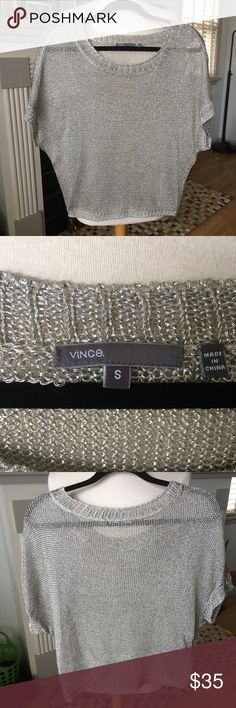 Vince Metallic Top In good used condition. Only flaw is a small snag on the bag. Not super noticeable. Vince Tops Blouses