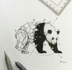 Картинка с тегом «panda, art, and drawing»