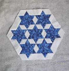 how to piece a Seven Sister's quilt block