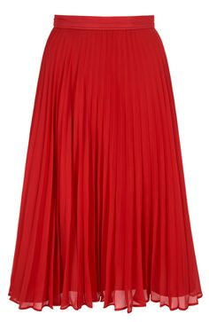 Spring/summer 2014 guide: pleated skirts – in pictures Black Pleated Skirt, On The High Street, Debenhams, Jackson, Spring Summer, Backstage, Pretty, Skirts, Red