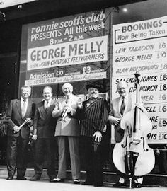 Ronnie Scotts: George Melly with the Feetwarmers.