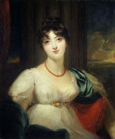 Paulina, Lady Carrington by Sir Thomas Lawrence (circa 1806) @Victoria Brown and Albert Museum