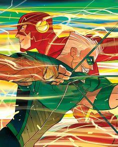 "(@dccomicsunited) på Instagram: ""Green Arrow & The Flash - Comic - Green Arrow #26 (July 2017) Artwork by Otto Schmidt"""