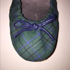 Gap ballet flats Green checkers pattern, fabric ballet flats, super cute, brand new never worn. GAP Shoes Flats & Loafers
