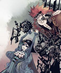 doubleragnarok:  Crossover:Fairy Tail X One Piece Gajeel Redfox...