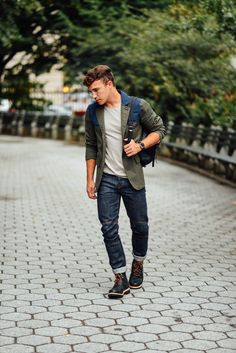 Style blogger Justin Livingston in his fall essentials