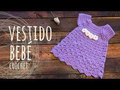 Teje un vestido para bebé a base de abanicos con este detallado tutorial