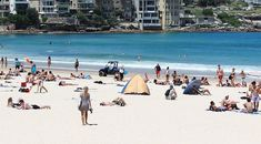 On the beach, Sydney in February
