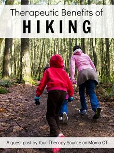 A pediatric physical therapist discusses the therapeutic benefits of hiking for children. Hiking Training, Forest Bathing, Hiking Tips, Backpacking Tips, Camping Tips, Senior Fitness, Daily Meditation, Physical Therapist, Therapy Activities