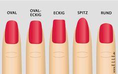 Rund, spitz oder eckig: Deine Nagelform verrät viel über deinen Charakter