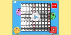 100 Number Square PowerPoint Powerpoint Games, Number Sequence, Times Tables, Primary Maths, Visual Aids, Basic Math, Math Numbers, Numeracy, Multiplication