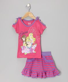 Take a look at this Pink Princess Tee & Skort - Toddler & Girls by Disney on #zulily today!